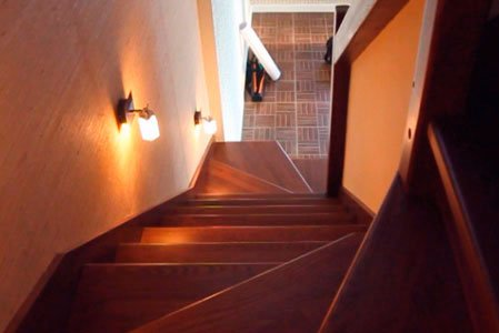 Расчет лестницы с забежными ступенями с поворотом на 180